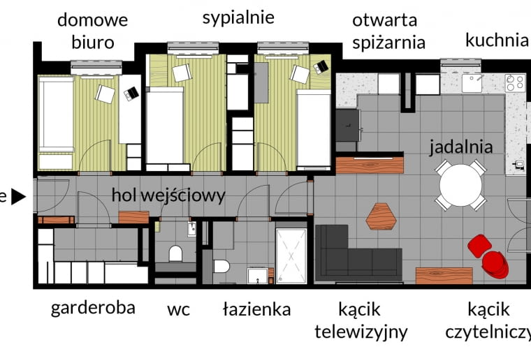 Plan mieszkania.