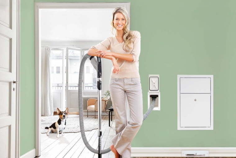 Centralne odkurzanie najlepiej zaplanować na etapie projektowania domu (niezależnie od tego, czy jest to odkurzacz tradycyjny czy chowany w ścianie)