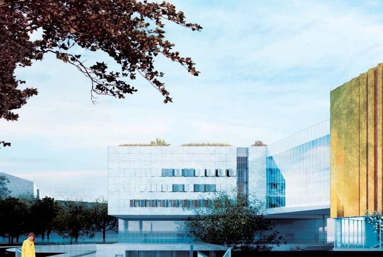 Projekt urbanistyczny wokół Wojewódzkiej Biblioteki Publicznej w Krakowie.