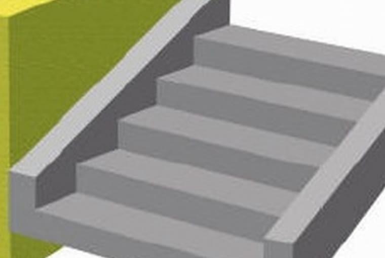 schody żelbetowe, schody policzkowe