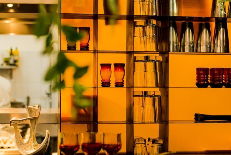 Komplet 6 szklanek, lata 70., Lucyna Pijaczewska