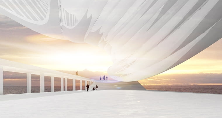 Nieregularne kształty budynku mają silne uzasadnienie w koncepcji architekta. Skręcona spirala podkreśla dramatyczne życie uchodźców z Ameryki Łacińskiej. Ten nietypowy kształt wymusiła także lokalizacja w obszarze często zagrożonym przez huragany. SSpiralna bryła budynku ma zminimalizować siłę naporu dużych wiatrów i fal