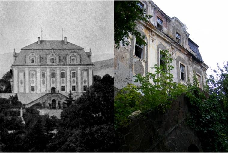 Opuszczony pałac w Piszkowicach