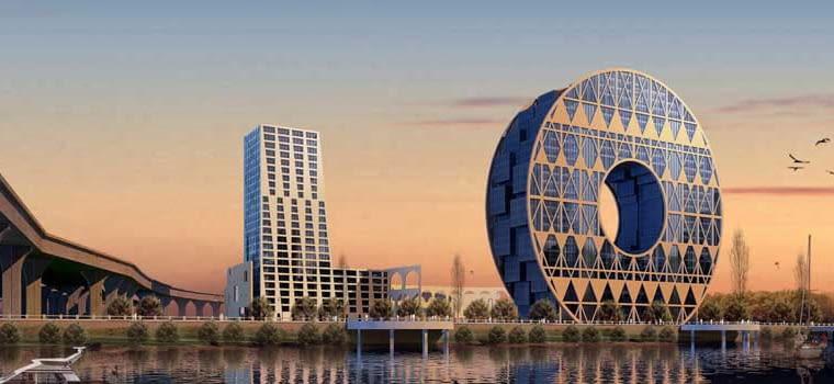 Biurowiec, Guangzhou, proj. AM Progetti, obiekt w budowie