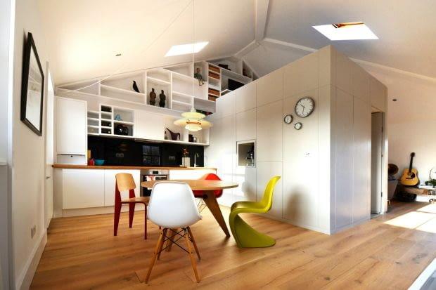 mieszkanie na strychu, wygodne mieszkanie na strychu, jak urządzić mieszkanie na strychu, jasne mieszkanie na strychu