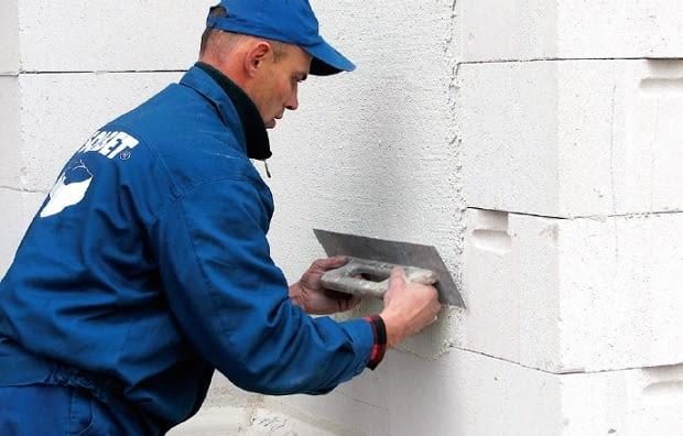 ściany z betonu komórkowego
