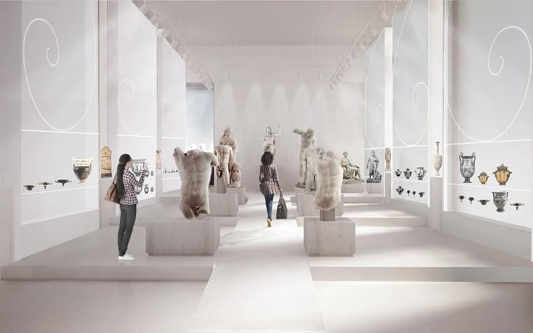 Galeria Sztuki Starożytnej w Muzeum Narodowym w Warszawie 'Konkursowa koncepcja, którą szczególnie cenię, bo kluczem do niej jest równowaga. Zachowaliśmy ją projektując oszczędną w formie scenografię i niezbędne minimum nowoczesnych środków wystawienniczych. Dzięki temu na pierwszym planie są tu bogate zbiory antycznej sztuki, które publiczność będzie mogła oglądać już w 2019 roku. Inspirujące były tu dla mnie nie tylko starożytne rzeźby, malowidła i artefakty, ale też sam gmach i przestrzenie MNW, które wpłynęły na ostateczną formułę tego projektu'.