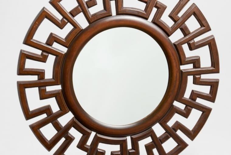 lustro, lustro w drewnianej ramie, dodatki
