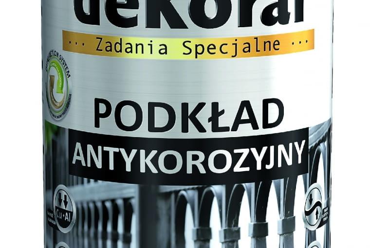 ANTYKOROZYJNY, podkład chroniący metal i zwiększający jego przyczepność 13,30 zł/0,5 l Dekoral
