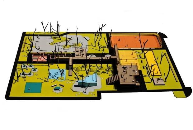 Makieta Skweru na Bemowie - Zespół Skweru Sportów Miejskich, wykonanie makiety MOKO Architects, 2012