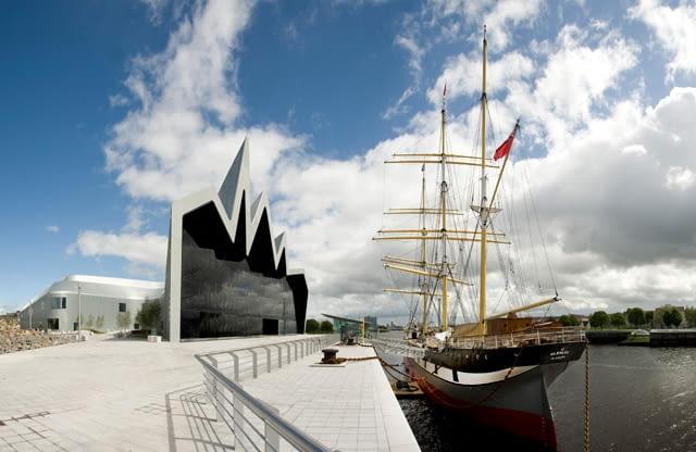 zaha hadid, glasgow, szkocja, muzeum, riverside museum