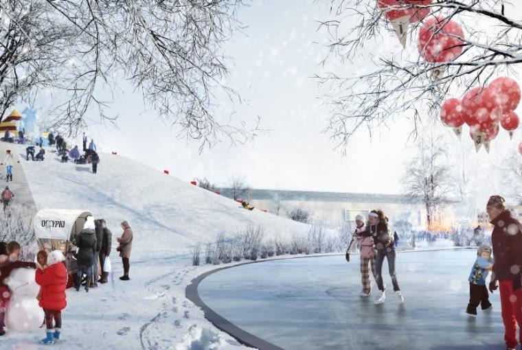 Morelia park zimą