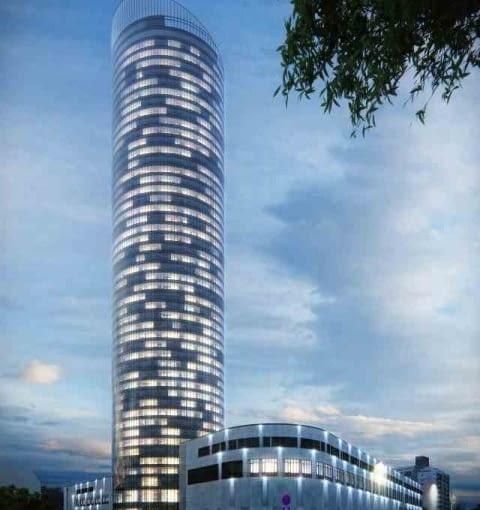 Sky Tower, Wrocław, proj. Wrocławska Spółka Walas i Studio Architektoniczne FOLD