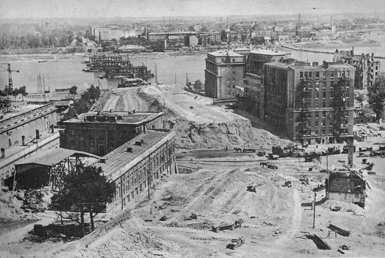 Budowa Mostu Śląsko-Dąbrowskiego w Warszawie