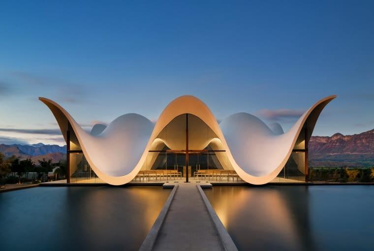 Kaplica Bosjes Chapel w Kapsztadzie, projekt: Steyn Studio. Finalista w kategorii: Plener