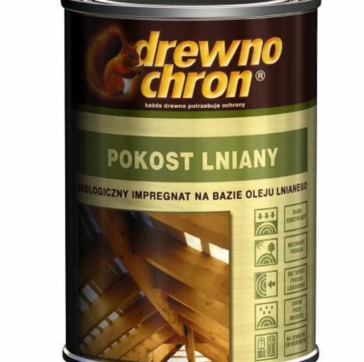 Farba do drewna. Pokost Lniany Naturalny olej impregnujący przeznaczony do nasączania surowego drewna i jego ochrony przed wilgocią. Cena: 17 zł/1 l