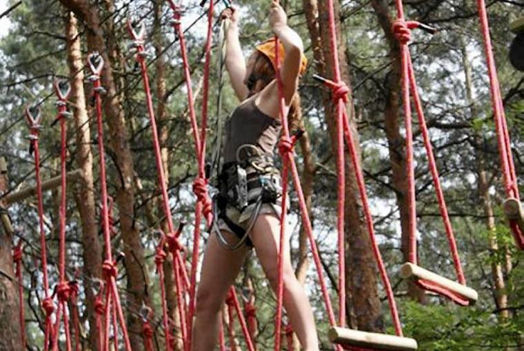 Leśny Park Kultury i Wypoczynku Myślęcinek, Bydgoszcz, park linowy