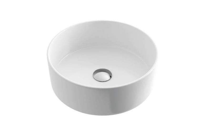 OVIA/EXCELLENT. Ceramiczna umywalka nablatowa o cienkich krawędziach; wymiary: fi 350 x 120 mm. Cena: 349 zł, www.excellent.com.pl