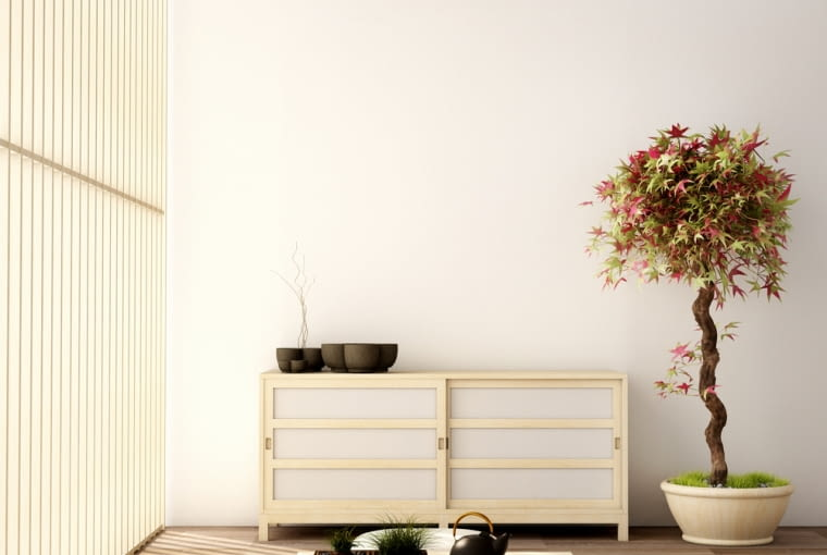 Wnętrze w japońskim stylu