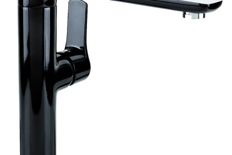 DALI BLACK/VALVEX   Wysoka, z dźwignią z boku   obrotowa wylewka   system Save Money (napowietrzający strumień wody). Cena: 515 zł, www.valvex.pl