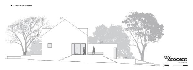 Projekt przebudowy domu z Zalesia Górnego - elewacje