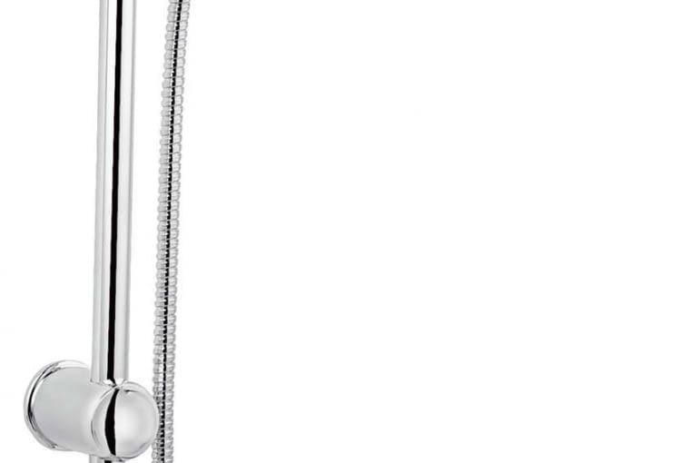 RONDO, ścienna, z rączką prysznicową, chrom, śr. 20 cm 283 zł Ferro