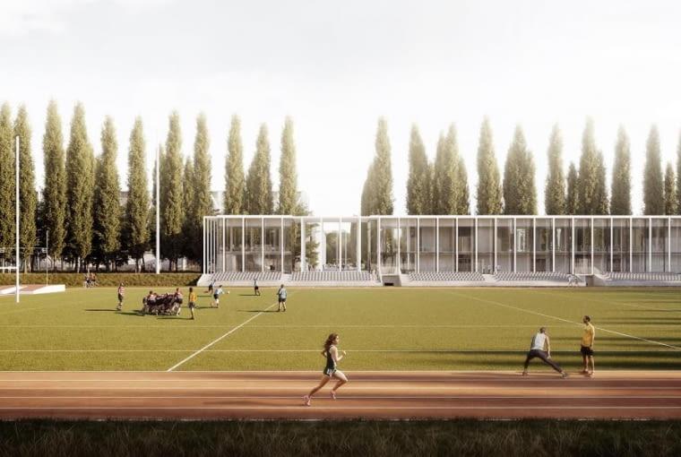 Praca zespołu WXCA, która zdobyła trzecią nagrodę w konkursie na koncepcję zagospodarowania okolic stadionu Skry
