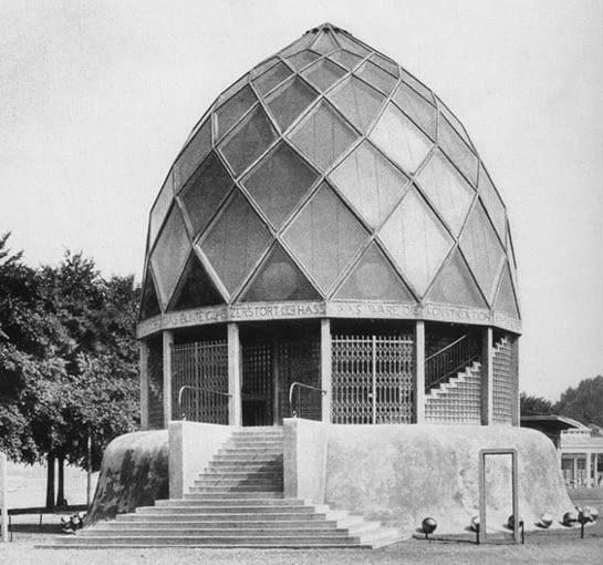 Bruno Taut, ekspresjonim, pawilon, szkło, Glashaus, kopuła, modernizm