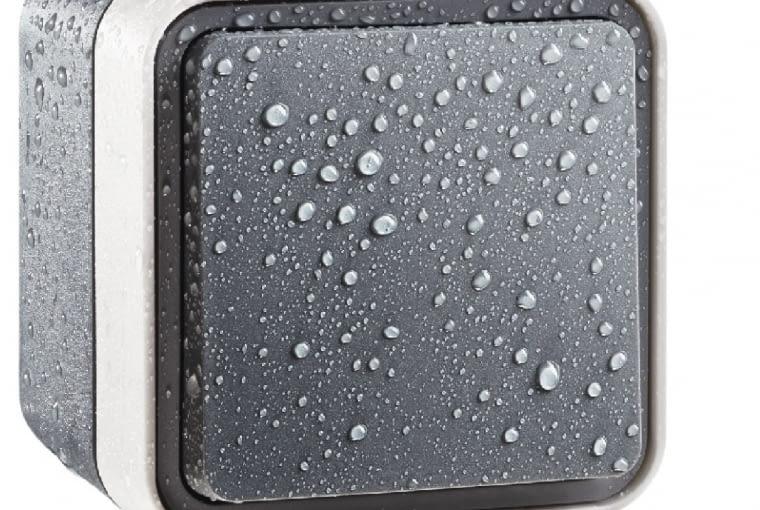 NIŻSZA CENA W.1/BERKER; wodoodporny łącznik natynkowy, stopień ochrony IP55, szare tworzywo Cena: ok. 52 zł