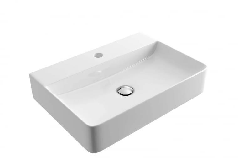 Rima/EXCELLENT. Ceramiczna umywalka nablatowa o nowoczesnym designie i cienkich krawędziach; wymiary: 500 x 420 x 130 mm. Cena: 499 zł, www.excellent.com.pl