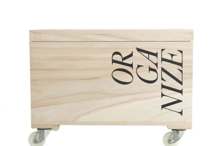 W stylu tego wnętrza: drewniana skrzynka na kółkach, Agamartin, cena: 269 zł