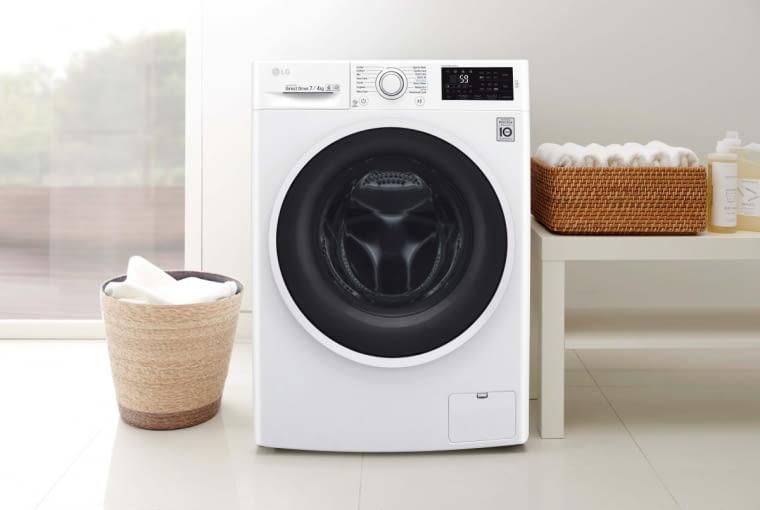 F2J6HM0W, 1200 obr./min, B/A/B, pranie 7 KG, suszenie 4 kg, zużycie wody: pranie 80 l, pranie z suszeniem 125 l, 2200 zł, LG