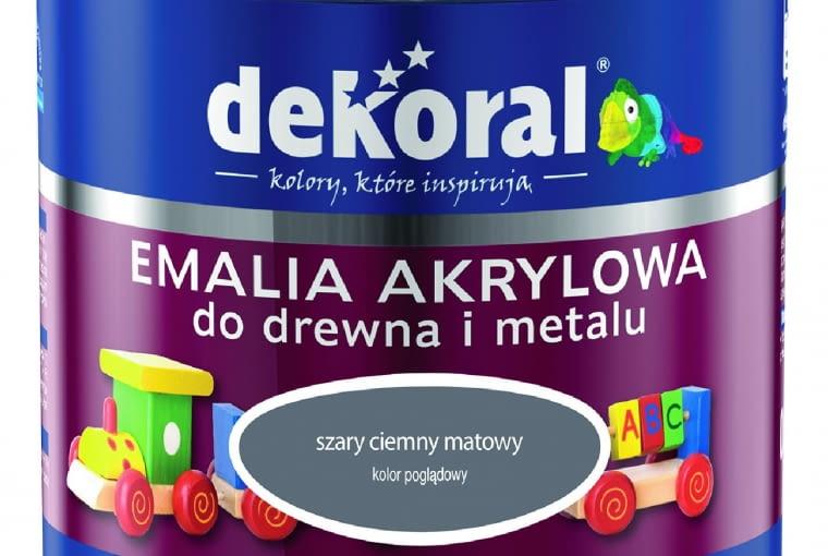 Akrylux mat/DEKORAL| Rodzaj: emalia akrylowa do drewna i metalu | wydajność: do 16 m2/l przy jednej warstwie | kolory: biały, ecru, ciemnobrązowy, ciemnoszary i czarny | stopień połysku: matowa | opakowanie: 0,5 l. Cena: 24,27 zł, www.dekoral.pl
