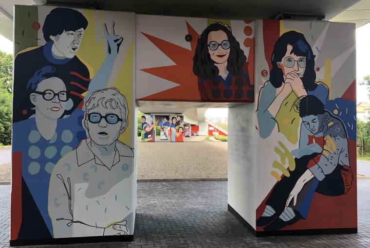 'Kobiety Wolności' - mural na przystanku PKM Gdańsk Strzyża