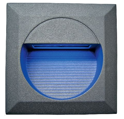 LED W02 APOLLO, aluminiowa oprawa do wbudowania, moc: 4 W, LED 12, barwa: niebieska, cena: 97 zł