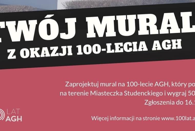 Konkurs - Mural z okazji 100-lecia AGH w Krakowie