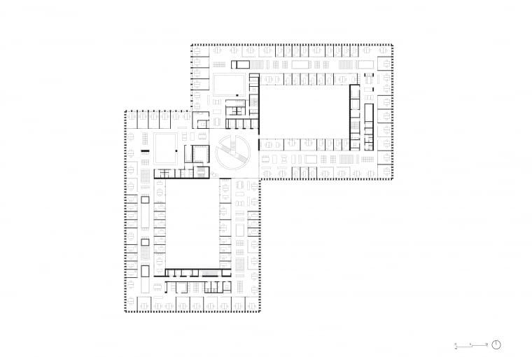 Nowy gmach sądu w Amsterdamie - piętro 8