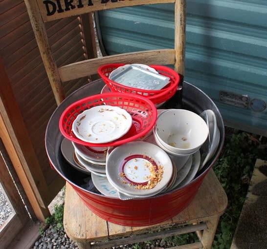 Miejsce na brudne naczynia