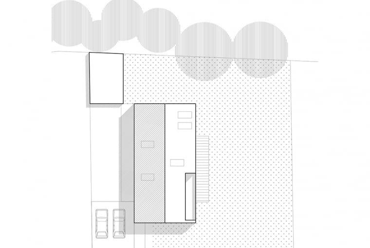 Nowoczesna stodoła - dom w Czeladzi; proj. be3 pracownia projektowa i Maciej Małek