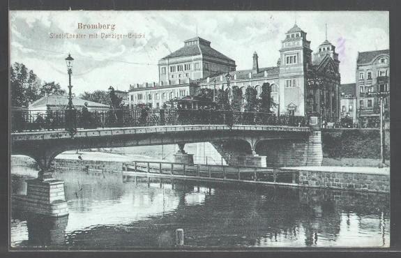 Teatr Miejski w Bydgoszczy na dawnej pocztówce.
