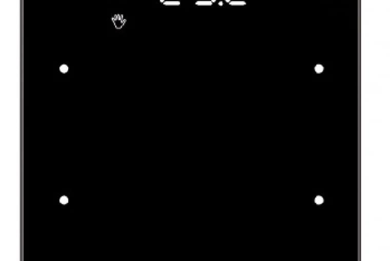 WYŻSZA CENA Sensor dotykowy KNX R.1/BERKER; do sterowania instalacjami inteligentnego domu, czarne szkło Cena: ok. 2100 zł