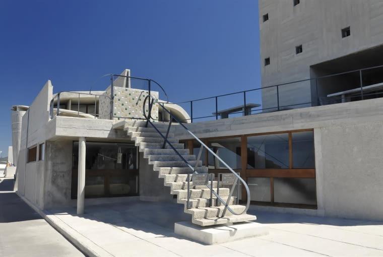 Jednostka Marsylska, proj. Le Corbusier - w tym miejscu podczas mojej wizyty mieściła się księgarnia i sklep z pamiątkami
