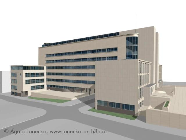katowice, śląsk, muzeum, modernizm, architektura, budynek