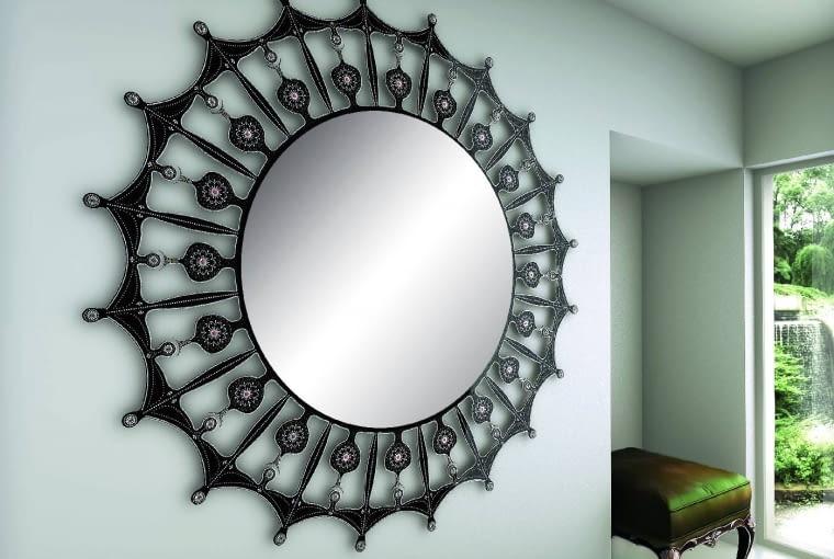 Crystal Sun, grzejnik lustro, przetwarza energię elektryczną w ciepło pod postacią promieniowania podczerwonego. Wzór, Pepe, pepeheating.com