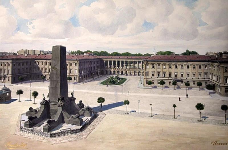 Pałac Saski - widok z lat 1894-1897