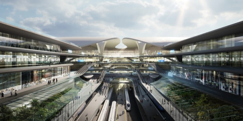 Centralny Port Komunikacyjny. Proj. Zaha Hadid Architects