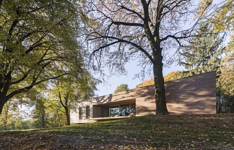 Dom w lesie. Projekt: 081 architekci.