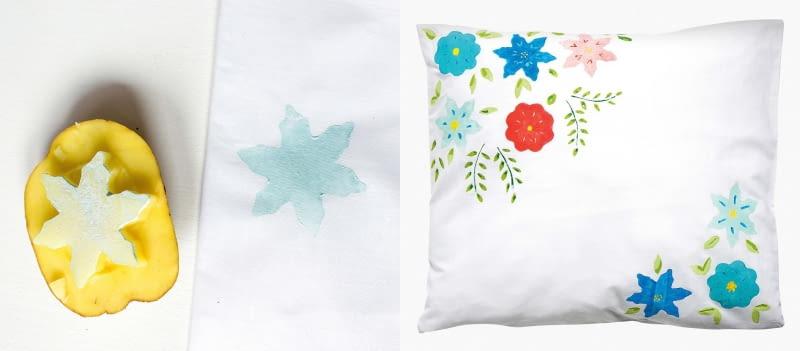 Dekoracja poduszki DIY