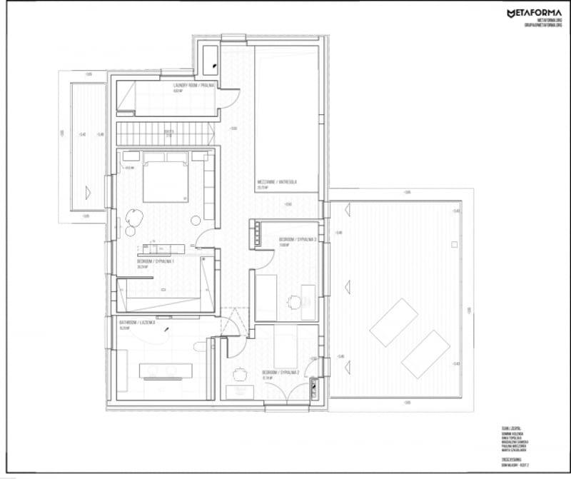 Dom własny - rzut piętra
