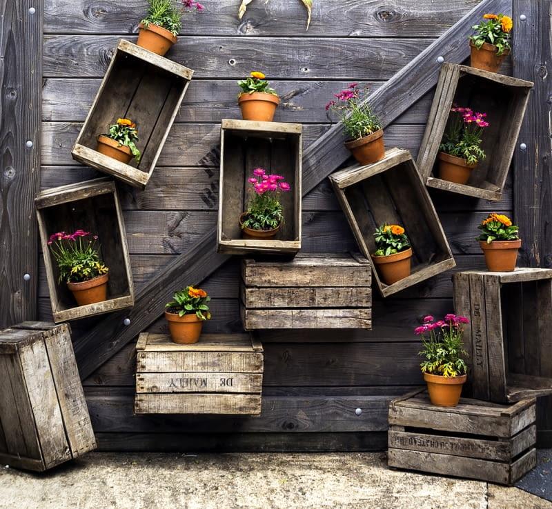 Skrzynki po owocach - półki na ścianę